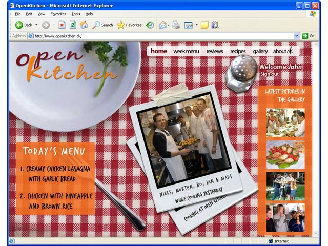 Open Kitchen website