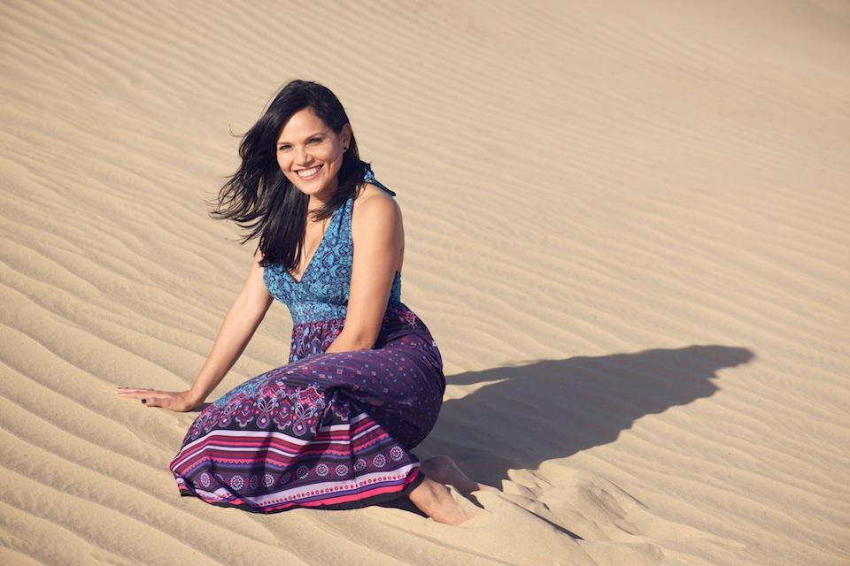 Portraiture on location - desert dunes